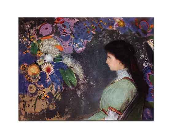 Odilon Redon Genç Kız ve Çiçekler