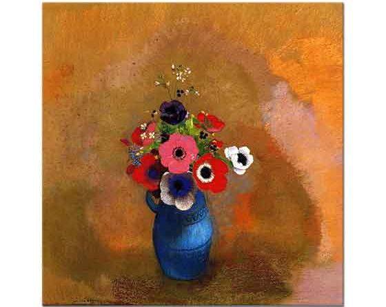 Odilon Redon Mavi Vazoda Çiçekler