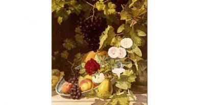 Otto Didrik Ottesen Meyve Çiçek ve Vazo