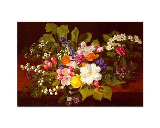 Otto Didrik Ottesen Rafta Bahar Çiçekleri Buketi