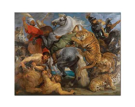 Peter Paul Rubens Kaplan ve Aslan Avı
