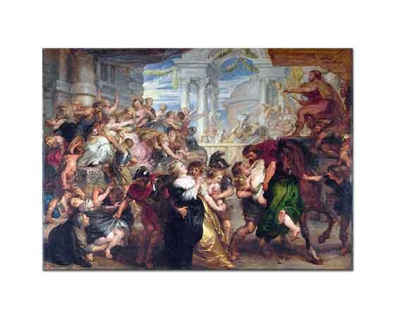 Peter Paul Rubens Sabinalı Kadınlara Tecavüz