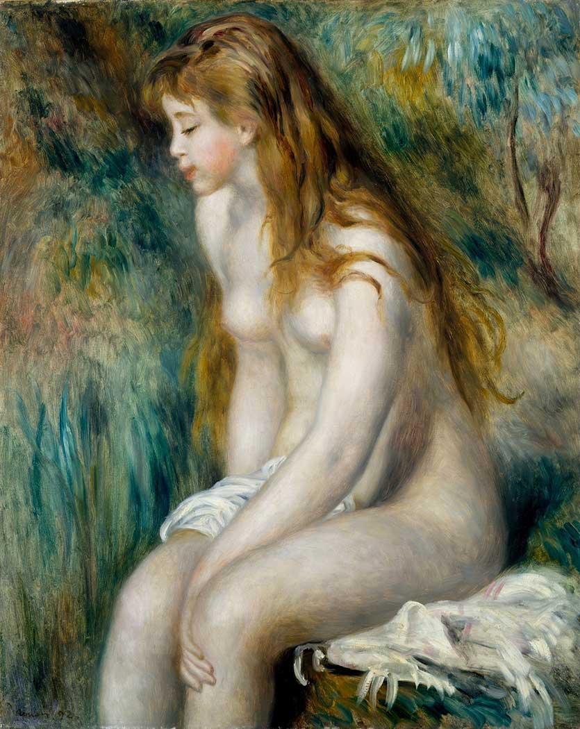 Pierre Auguste Renoir Banyo Yapan Kadın Otururken