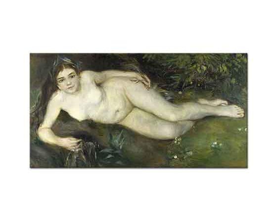 Pierre Auguste Renoir Çayırda Uzanan Nü
