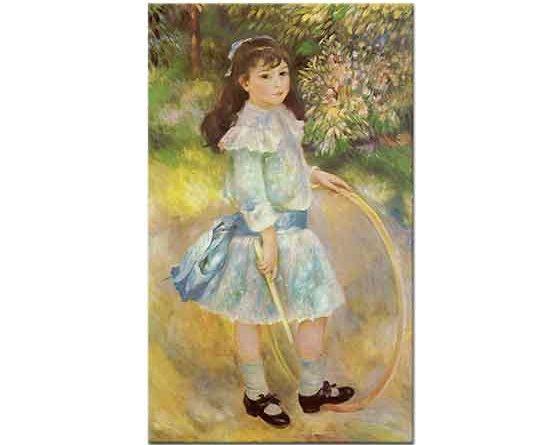 Pierre Auguste Renoir Çemberli Kız