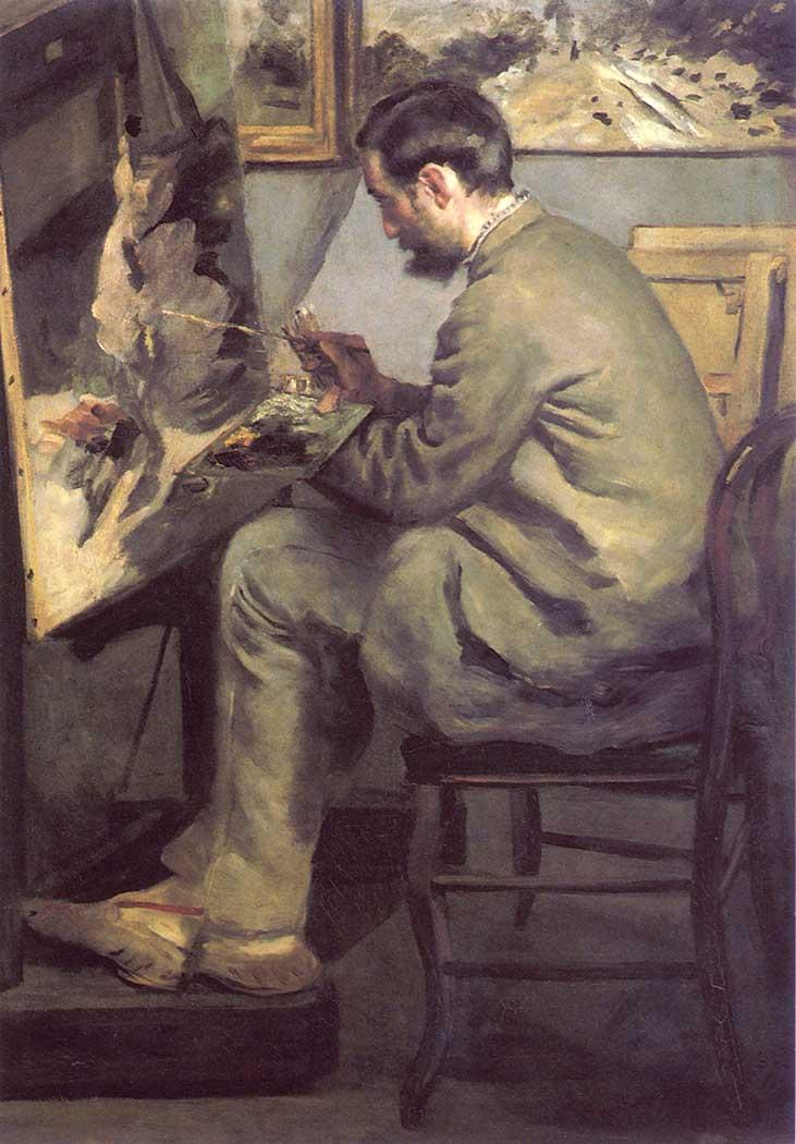 Pierre Auguste Renoir Frederic Bazille ve Sehpası