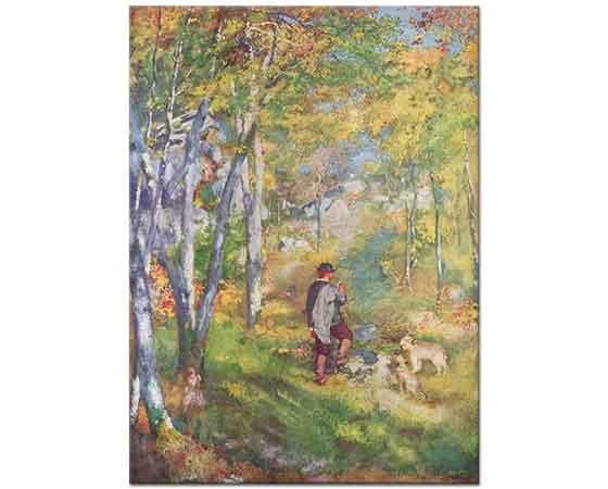 Pierre Auguste Renoir Genç Adam Fontainebleau Ormanında