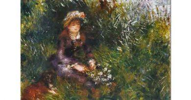 Pierre Auguste Renoir Kadın ve Köpeği
