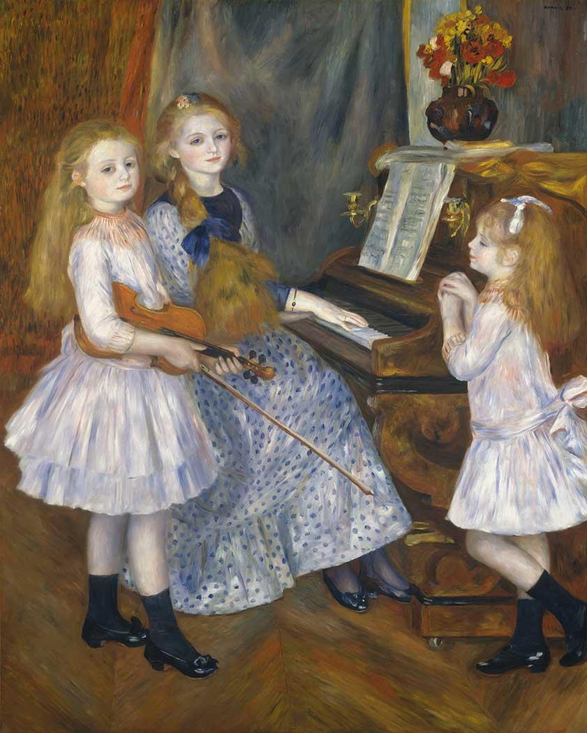 Pierre Auguste Renoir Kızkardeşleri ile Catulle Mendes