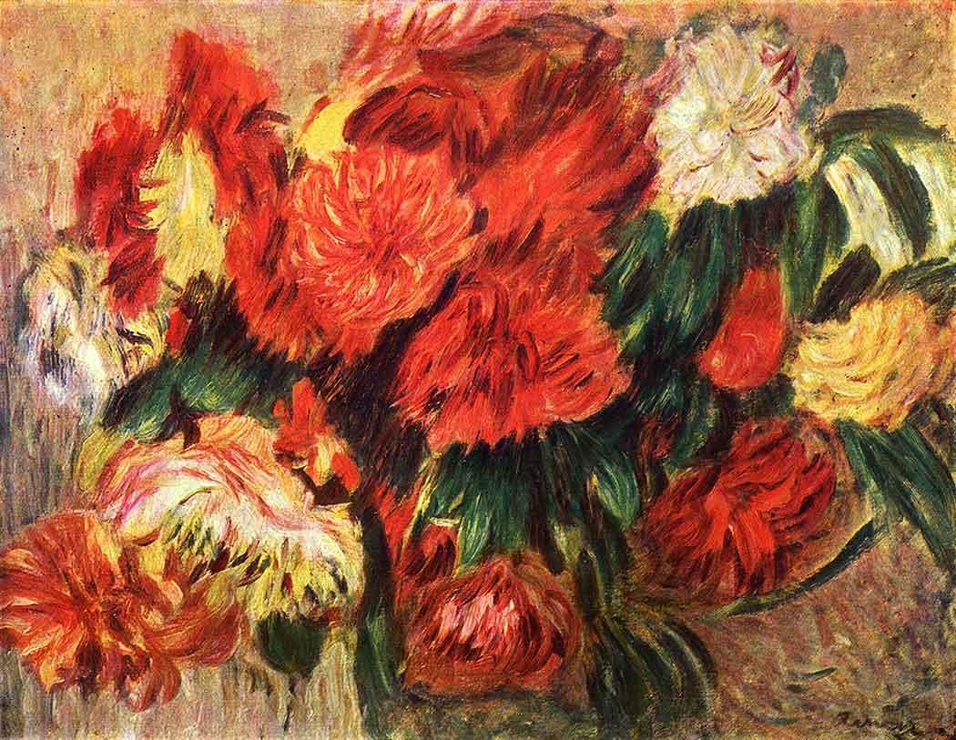 Pierre Auguste Renoir Krizantemler
