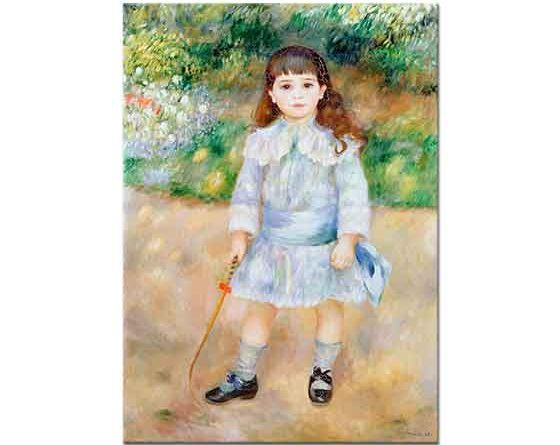 Pierre Auguste Renoir Küçük Kız Bahçede