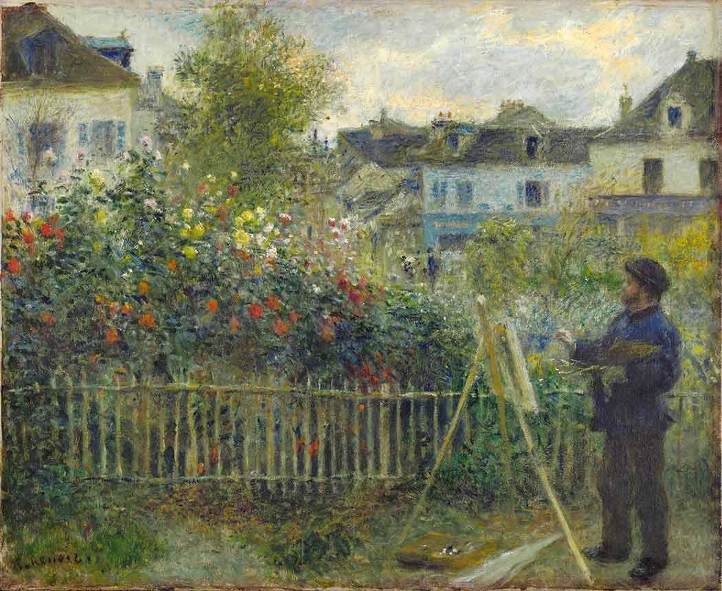 Pierre Auguste Renoir Monet Resim Yaparken