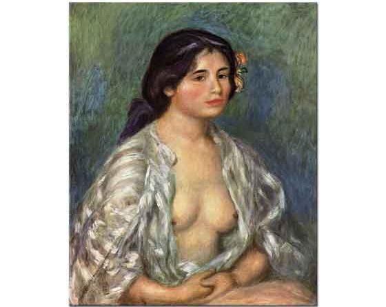 Pierre Auguste Renoir Önü Açık Gömleği ile Gabriel