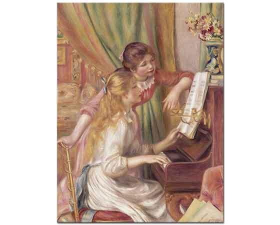 Pierre Auguste Renoir Piyano Başında Kızlar