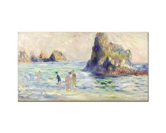 Pierre Auguste Renoir Sahilde Yıkananlar