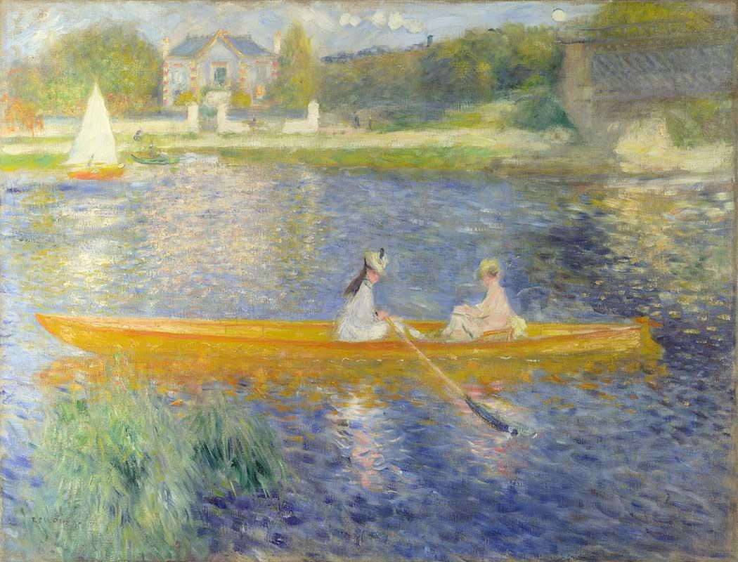 Pierre Auguste Renoir Sandalda iki Kadın