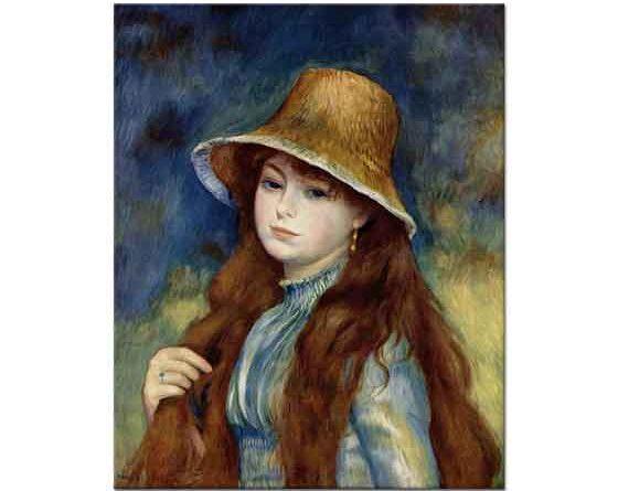 Pierre Auguste Renoir Şapkalı Kız