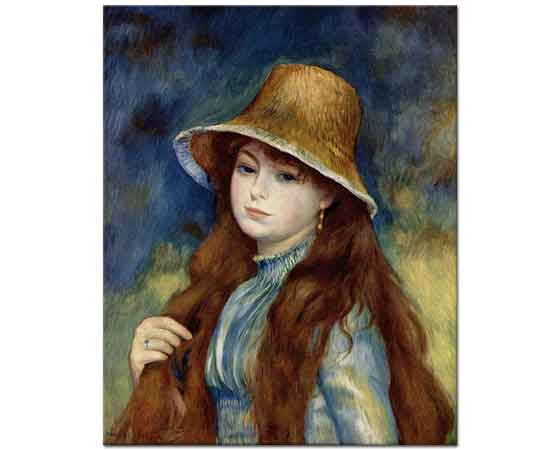 Pierre Auguste Renoir Sapkali Kiz Istanbul Sanat Evi