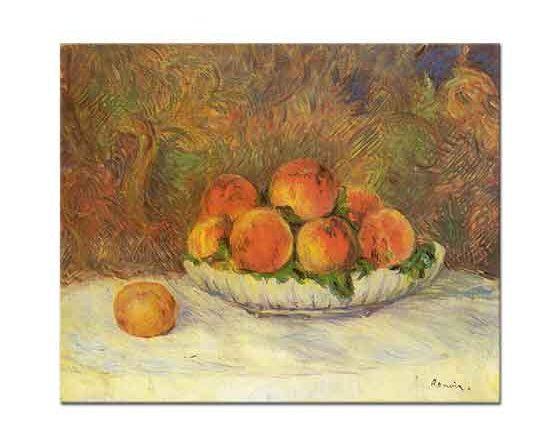 Pierre Auguste Renoir Şeftalili Natürmort