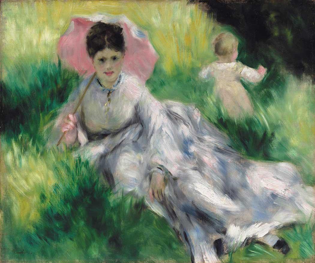 Pierre Auguste Renoir Şemsiyeli Kadın