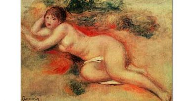Pierre Auguste Renoir Uzanan Nü