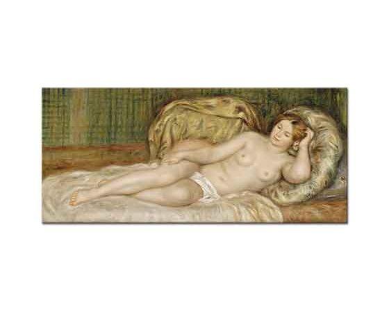 Pierre Auguste Renoir Yatakta Uzanan Nü