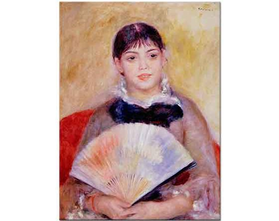 Pierre Auguste Renoir Yelpazeli Kadın