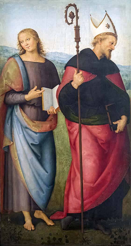 Pietro Perugino Aziz John ve Aziz Augustine