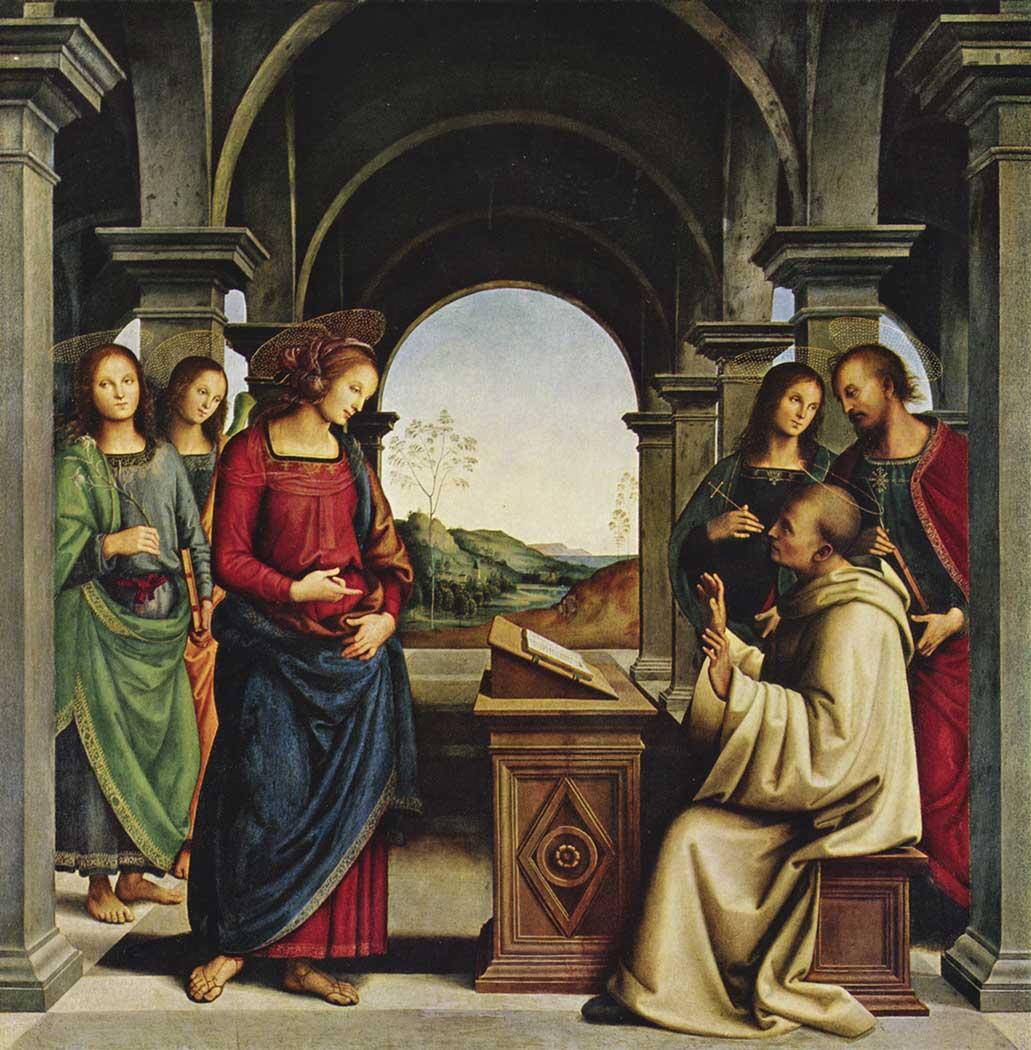 Pietro Perugino Bakire'nin Aziz Bernard'a Görünmesi
