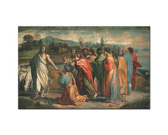Sanzio de Urbino Raphael Anahtarın Teslim Edilmesi