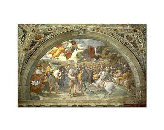 Sanzio de Urbino Raphael Attila ile Büyük Leo'nun Karşılaşması