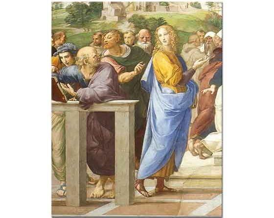 Sanzio de Urbino Raphael Aziz Altars'ın Zaferi Detay