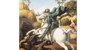 Sanzio de Urbino Raphael Aziz George'un Ejderha ile Savaşı