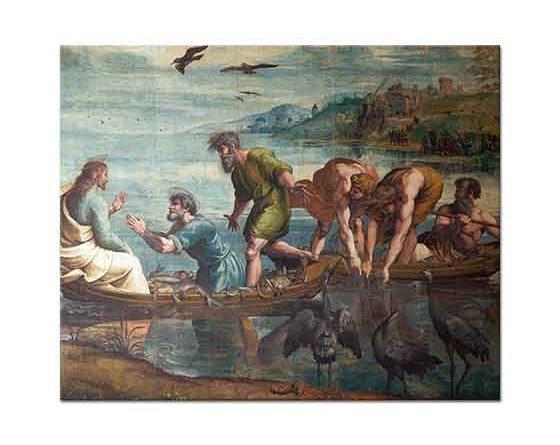 Sanzio de Urbino Raphael Balıkların Çoğalması Mucizesi