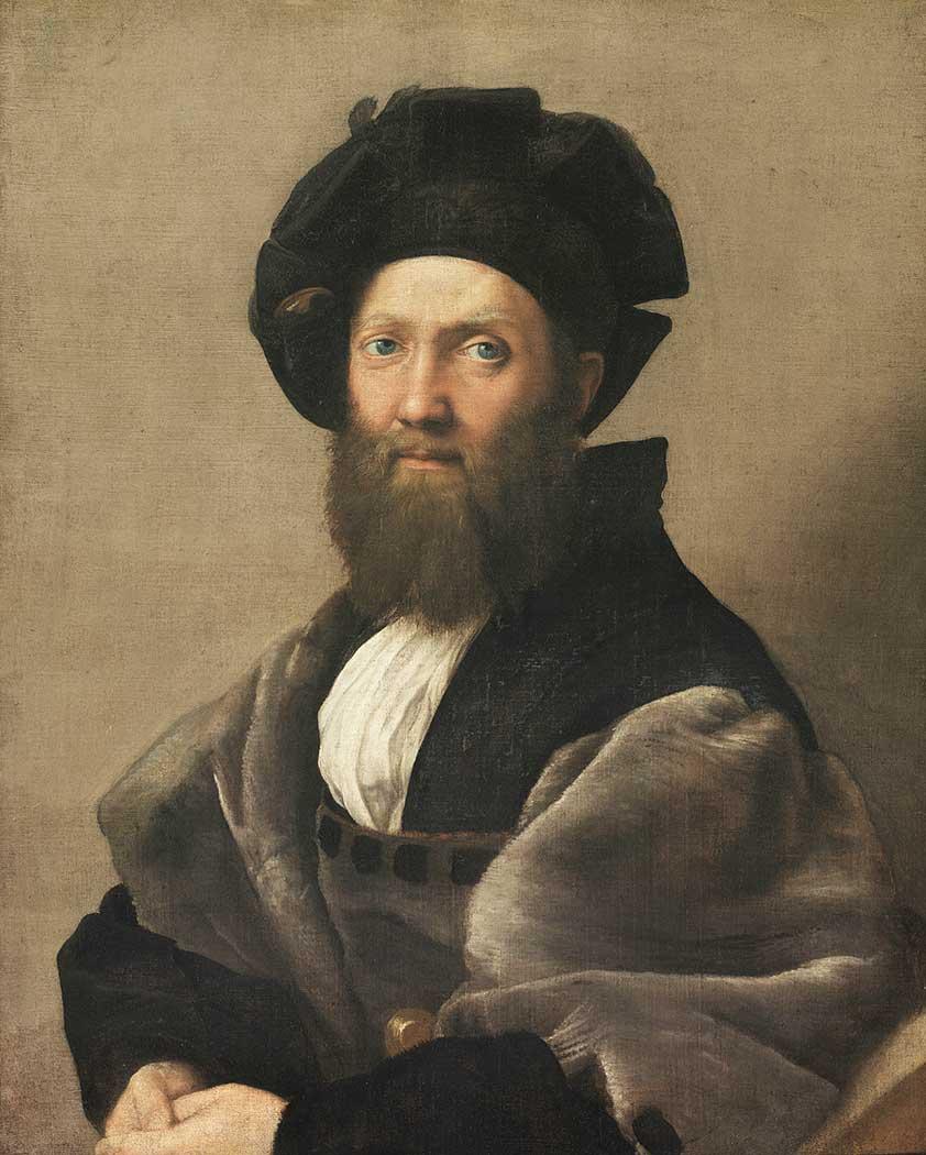 Sanzio de Urbino Raphael Baltazar Castiglione'nin Portresi