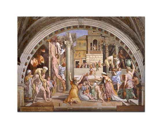Sanzio de Urbino Raphael Borgo'da Yangın