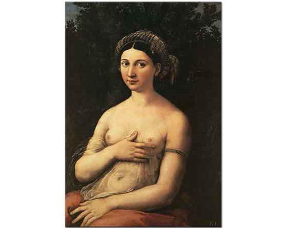 Sanzio de Urbino Raphael Genç Bir Kadının Portresi