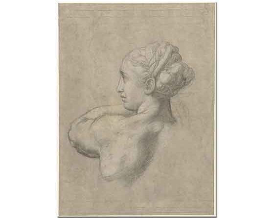Sanzio de Urbino Raphael Kadın Başı Eskiz