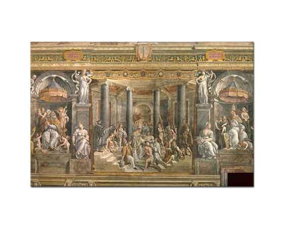 Sanzio de Urbino Raphael Konstantin'in Vaftizi