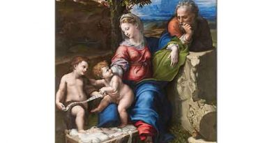 Sanzio de Urbino Raphael Kutsal Aile Meşe Altında