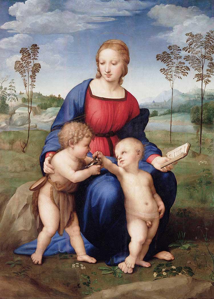 Sanzio de Urbino Raphael Madonna ile Isa