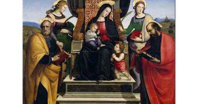 Sanzio de Urbino Raphael Meryem ve Çocuk Isa Azizlerle