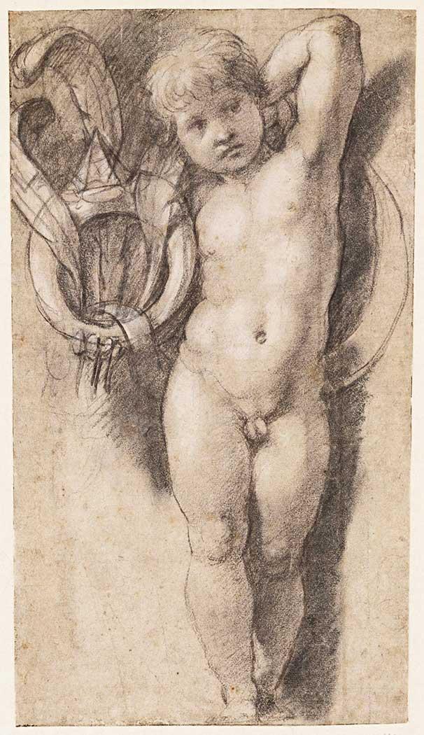 Sanzio de Urbino Raphael Putto Halka ve Yaylar ile
