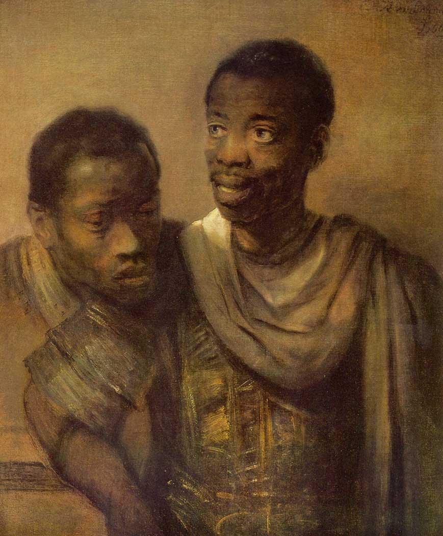 Rembrandt Afrikalı iki Erkek Çocuk