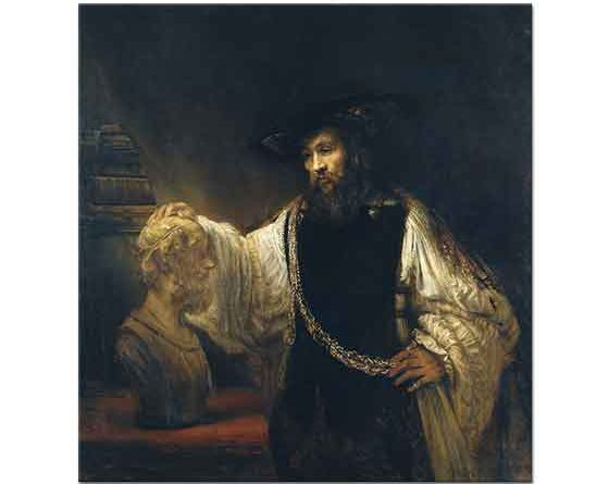 Rembrandt Aristotales Homeros'un Büstü ile