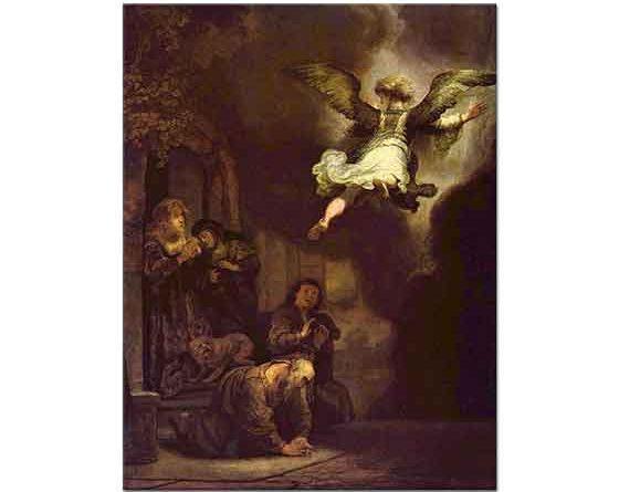 Rembrandt Başmeleğin Tobias Ailesinin Yanından Ayrılışı