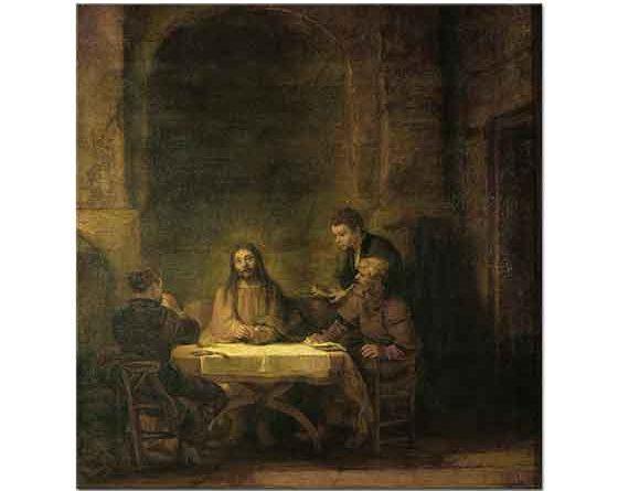 Rembrandt Emmaus'ta Yemek