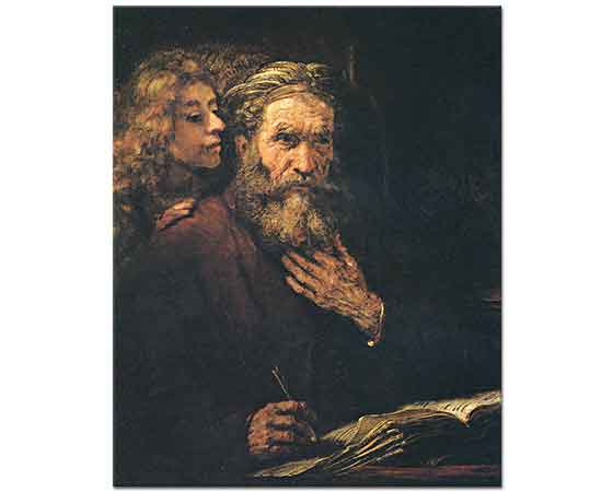 Rembrandt Evangelist Matthew
