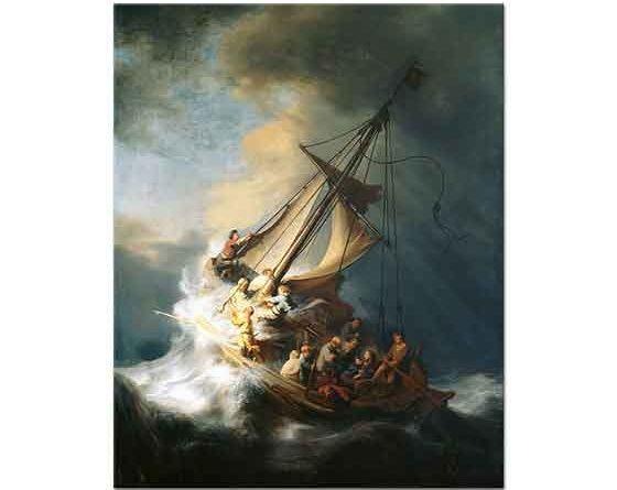 Rembrandt Fırtınada Isa