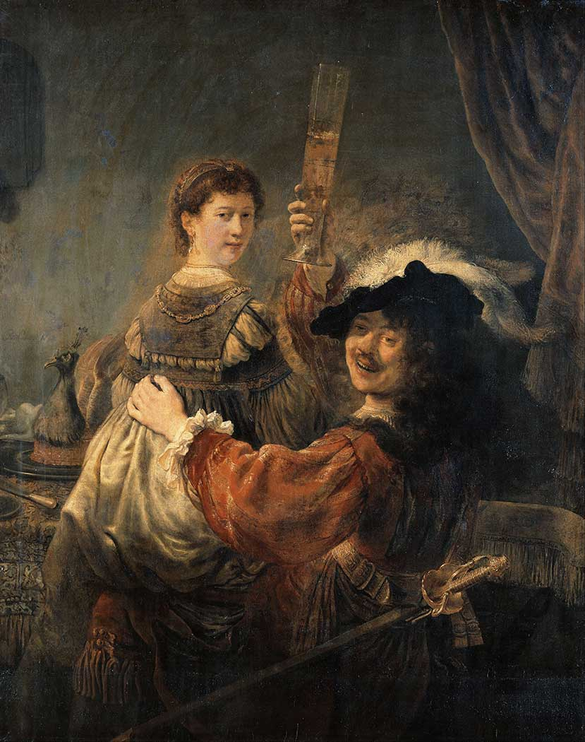 Rembrandt Genç Karısı Saskia ile